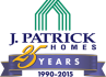 J Patrick Homes 25 Years Logo