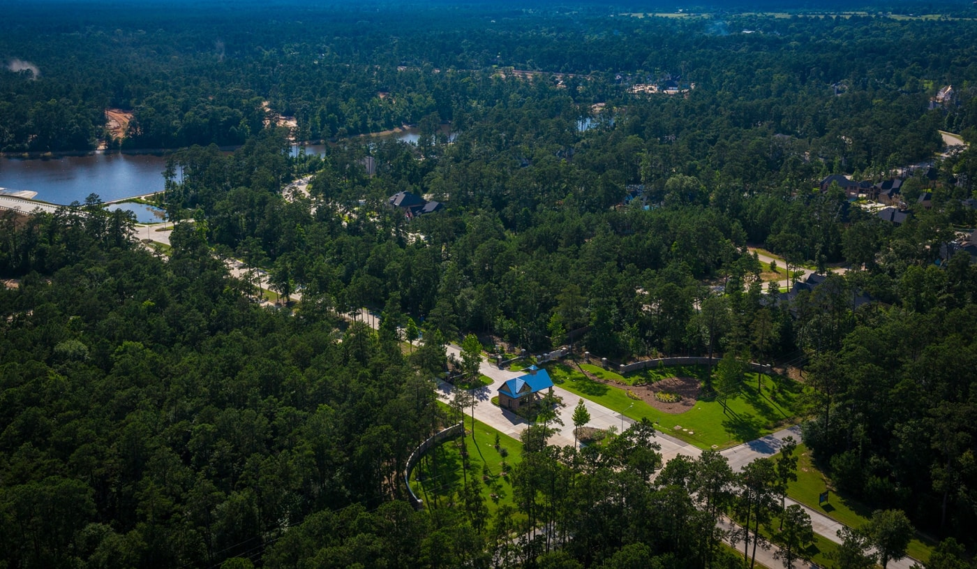 Aerial view of Woodtrace