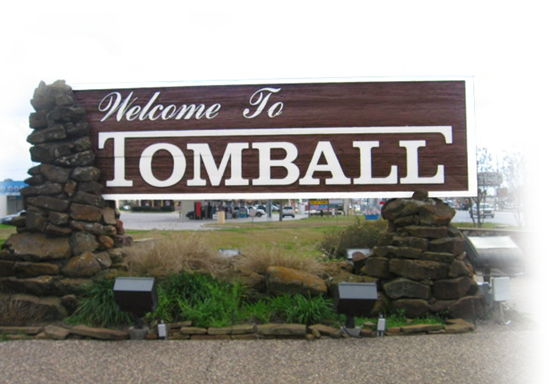 A sign welcoming people to the City of Tomball